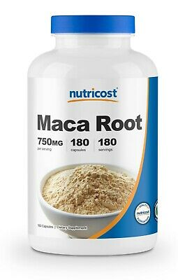 Nutricost Maca Root 750mg, 180 Capsules - 180 Servings, Non-GMO, Gluten Free