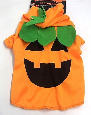 Dog Pet Halloween Pumpkin Outfit Costume New