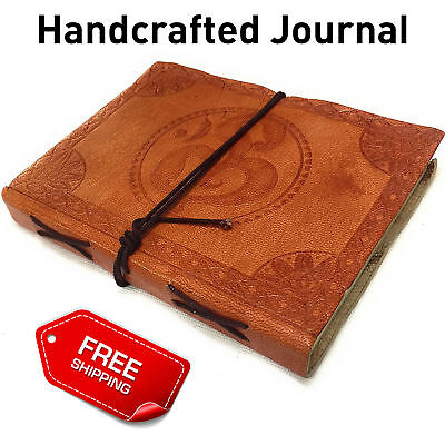 Handcrafted Journal Printed Embossed Leather Personal Diary Writing Notebook