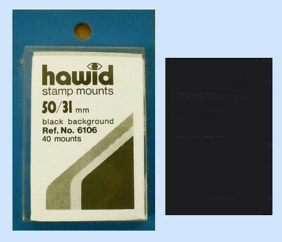 2 PIECES OF HAWID MOUNTS 50 X  31MM - BLACK    FREE SHIPPING    #HAW-50/31Bdisc