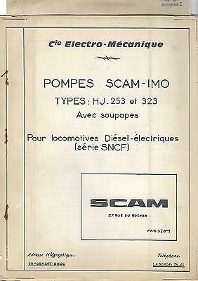 Pompes Scam-Imo Pour Loco Diesel