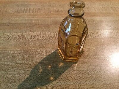Vintage Wheaton Amber Church Brand Ink Bottle. 60's-70's