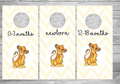 Lion King - Simba - Baby Wardrobe / Closet Dividers