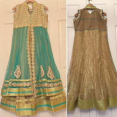 READYMADE Asian,Anarkali Salwar Suit.UK SIZE:12 (bust size-40,Length-50)