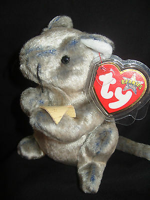 RETIRED MINT TY BEANIE BABY CHEDDAR THE MOUSE