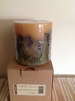 Longaberger Lavender Petals  Inclusion Candle - New
