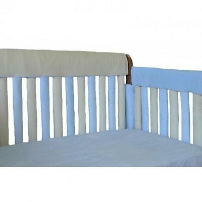 "Go Mama Go 52"" x 12"" Teething Guard - Blue/Cream"