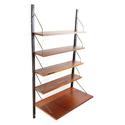 Retro Vintage Danish Design Rosewood Wall Shelving System Desk Book Shelves 60s