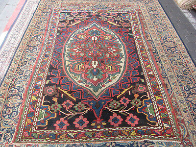 ANTIQUE PERSIAN Bakhtiar Area  RUG  HAND WOVEN  200x135-cm / 78.7x53.1-inches