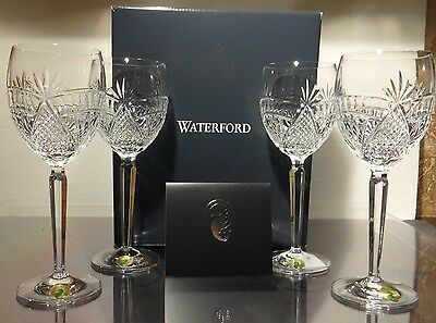 "*NEW* Waterford Crystal SEAHORSE NOUVEAU (2017) Set 4 Water Goblets 8 1/2"" NIB"