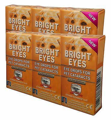 Cataract Eye Drops for Pets Bulk Discounted 6-Pack - Ethos Bright Eyes 6 Boxes