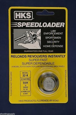HKS 32K Speed Loader 6 Shot 32cal S&W Taurus 32-K
