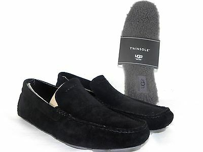 369d998d17b New Mens 10 Ugg Henrick Black Suede Driving Moccasins Loafers   Wool  Twinsoles