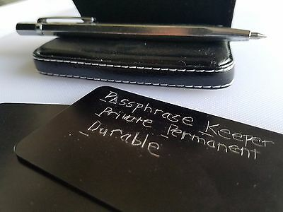 Cryptocurrency Cold Storage Wallet Passphrase Password Keeper & Metal Cards