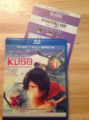 Kubo and the Two Strings (Blu-ray/DVD,2016,2-Disc,Digital)Authentic US RELEASE