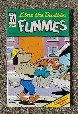 Line The Dustbin Funnies Number 1 Comic Book by Mike Kazaleh 1997