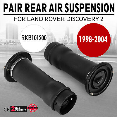 Land Rover Discovery 2 Rear Air Suspension Spring Bags x 2 DUNLOP - RKB101200