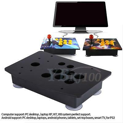 Black DIY Handle Arcade Set Kits Arcade Gaming joystick Acrylic Panel & Case