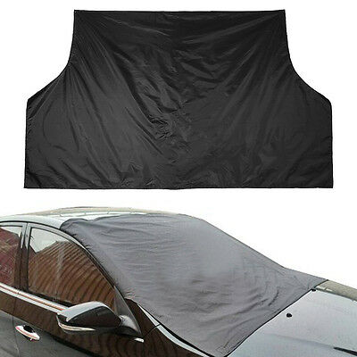 Universal Windshield Window Snow Ice Frost & Sun Shade Protector Tarp Cover LJ