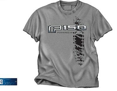 "T-Shirt with Ford F150 Pickup Truck Logo / Emblem ""Powered by Ford"""