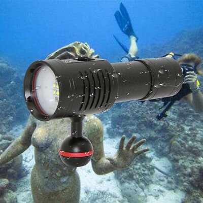 KCFIRE Diving Flashlight Torch Lamp Photography Underwater Video LED Flashlight