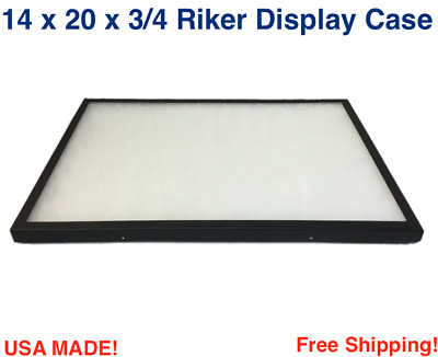 14 x 20 x 3/4 Riker Display Case Box for Collectibles Jewelry Arrowheads