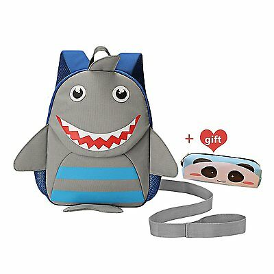 Toddler Backpack GUHEE Safety Harness Backpack Lunch Bag for Kids Shark