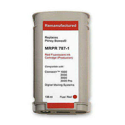 787-1 Pitney Bowes Connect+ Postage Meter Fluorescent Red Ink Cartridge