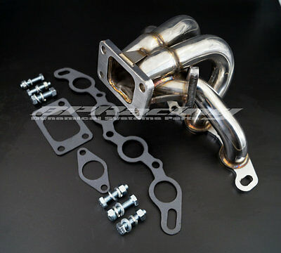 Stainless Steel Tubular Manifold For 83-87 TOYOTA AE86 4AGE  T3/T4