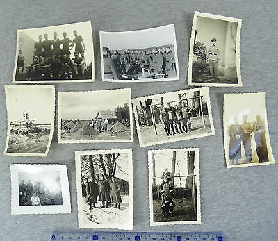 WW2 LOT of 10 ORIGINAL GERMAN ARMY OFFICERS & SOLDIERS REAL PHOTOS WWII #3