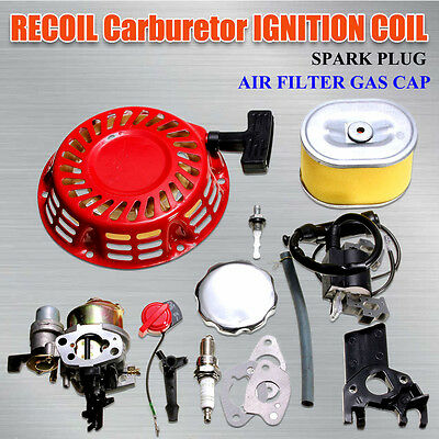 For Honda GX160 5.5HP Carburetor Recoil Ignition Coil Spark Plug Air Filter Gas