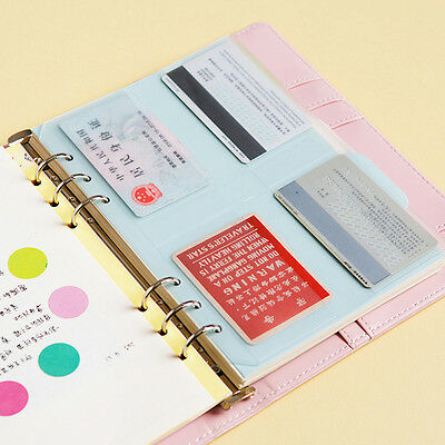 A5/A6 Transparent Zip Lock Envelopes Binders Pocket Refill Organiser Stationery