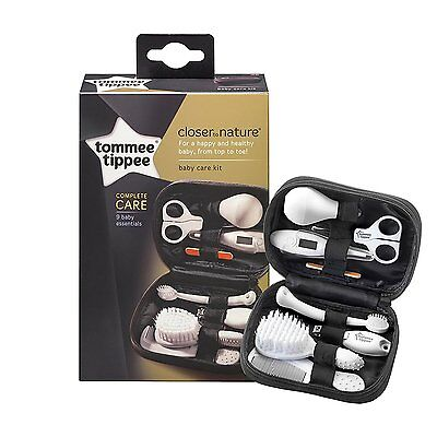 Tommee Tippee 9 Baby Essentials Healthcare Kit - Brush Thermometer Comb Clippers