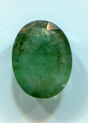 Loose Natural EMERALD Gemstone Faceted Oval cut 10 mm x 5 mm 3.55 carats