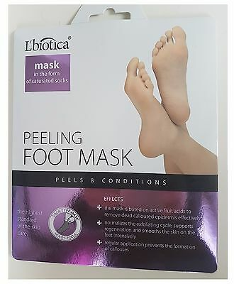 UK Exfoliating Peel Foot Mask Baby Soft Feet Remove Hard Dead Skin Callus Care