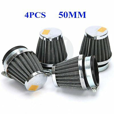 4X Motorcycle Air Filter Cleaner 50mm for Yamaha	Vmax 1700 1200 Virago 250 XS