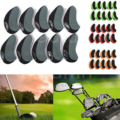 X10 Neoprene Golf Club Protective Iron Head Cover Wedge Sock Headcover 4 Colors