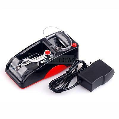 Electric Automatic Cigarette Rolling BLk Machine Tobacco Injector Maker Roller