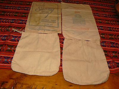 (4) Vintage 10 lb. Feed Sack Bags -  McCahan, Franklin & Un-marked