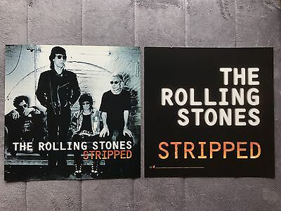 The Rolling Stones Stripped '95 RARE promo 12 x 12 poster flat