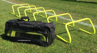 "DOG AGILITY HURDLE Set of 6 Agility Hurdles 9"" Carry Bag  EXERCISE WEAVE/JUMP"
