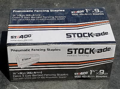 "STOCK-ade ST-400 Pneumatic Staples 1-3/4"", Box of 1200"