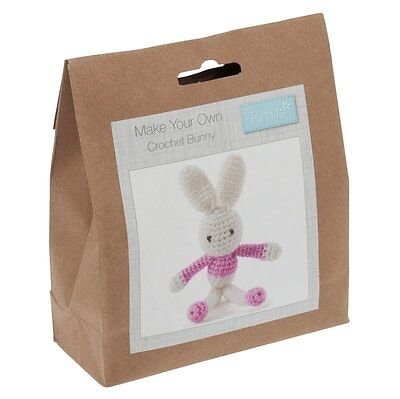Make Your Own Crochet Pink Bunny Decoration Kit - Trimits Crafts Baby Gift