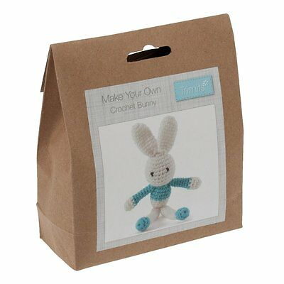 Make Your Own Crochet Blue Bunny Decoration Kit - Trimits Crafts Baby Gift