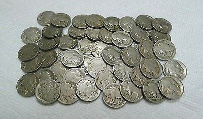Awesome Roll of 40 No Date Buffalo Nickels! NO Acid Treated Coins! See Photos!