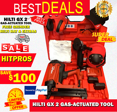 Hilti Gx 2 Gas-Actuated Tool, New, Free Grinder, Hilti Hat, Extras, Fast Ship