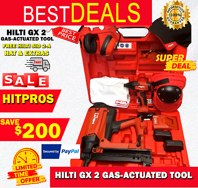 Hilti Gx 2 Gas-Actuated Tool, New, Free Hilti Sid 2-A, Hat, Extras, Fast Ship