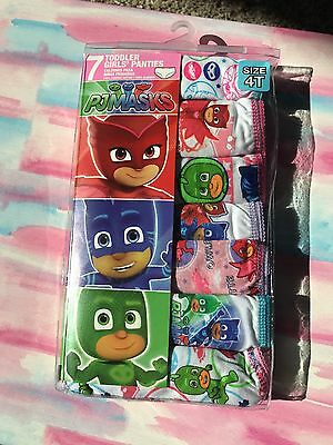7 Count Todler Girls Underwear PJ MASKS size 4t Brand New Never Opened