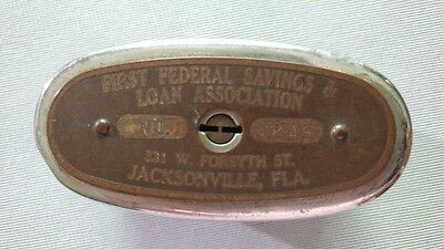 Collectible Metal Traveling Teller Bank - First Federal Jacksonville Fl