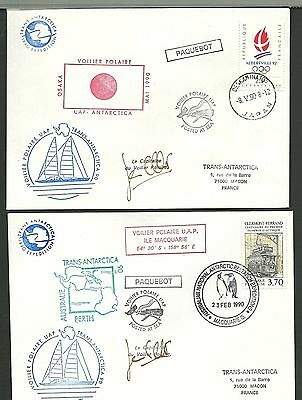 Fdc 1990 -  Expedition  Trans-Antartica